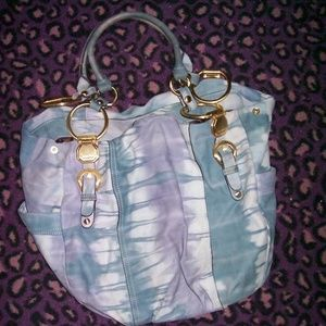 ONLY 1 nwot b makowsky butter leather tie dye bag